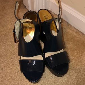 Navy Michael Michael Kors Wedged Sandals